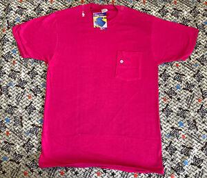 VTG 90s NOS Royal Comfort JCPenny L Pink Polo Pocket T-Shirt