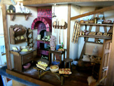 Handarbeit antike Backstube, Backofen,Dielenboden,Kränze ,Brote/  Catrichen 1:12