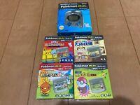 Pokemon mini Console and 4 Games Set