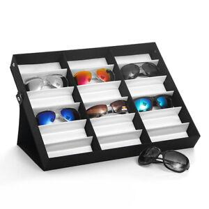18 Slots Eye Glasses Eyewear Sunglasse Display Storage Box Case Holder Organizer