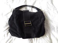 """BNWOT L K Bennett """"History"""" large Tote bag in Black Suede + dust bag"""