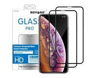 iPhone 11 PRO MAX -  Lot de 2 Films Protection écran en verre trempé (Noir)