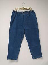 New Plus Size Junonia Jeans, Elastic Waist, Pockets, Indigo Blue, 4X P