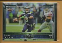 Russell Wilson 2015 Topps Chrome Card # 15 Seattle Seahawks Football