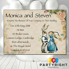 Personalised Vintage Wedding Engagement Peter Rabbit  Party Invite PK 10