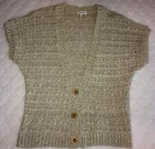 PAPAYA Beige Cardigan Short Sleeve Knit Size 16 PLUS SIZE