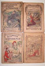 """Lot de 4 """"les LAVAREDE"""" Fayard 1903 N° 15 17 19 et 20 Paul D'Ivoi R. Tournon BE"""