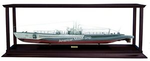 "DISPLAY CASE FOR WAR SHIPS LENGTH 37"" – 43"" WITH ACRYLIC"