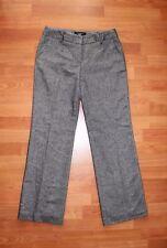 Talbots Women's Signature Dress Pants 4P Petite Gray Flat Front Work Career EUC