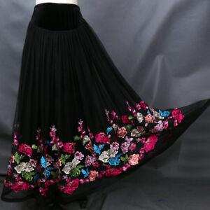 Latin salsa tango rumba Cha cha Square Ballroom Dance Dress#F027 Skirt Black