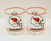 St. Louis Cardinals Rocks Frosted Glasses Cardinal Logo Mobil Oil Brand - 2 NFL