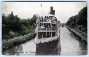 1909 STEAMER PENN IN DEEP CUT DELAWARE & CHESAPEAKE CANAL*GEO WOLF WILMINGTON PC