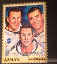 NASA AJMAN STAMP APOLLO 13 Jim Lovell Jack Swigert Fred Haise 50 Dh Air Mail