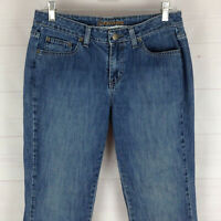 St. John's Bay womens size 10P stretch med wash mid rise bootcut denim jeans