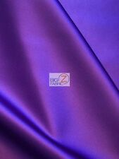 SOLID CREPE BACK SATIN FABRIC - Purple - BY THE YARD DRESS GOWN HOME DECOR BRIDE