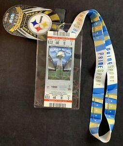 Super Bowl XLV Ticket Packers vs. Steelers w/ Prime Sport Lanyard & Tour Tags