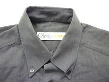E7973 Olymp Luxor 4160 64 68 Businesshemd Kombimanschette 40 dunkelgrau meliert
