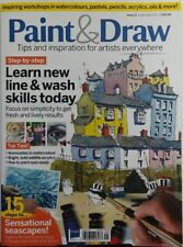 Paint & Draw UK Sept 2017 Learn New Line & Wash Skills Today FREE SHIPPING sb