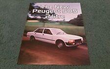 1979 1980 PEUGEOT 505 2 LITRE SALOON UK LEAFLET BROCHURE