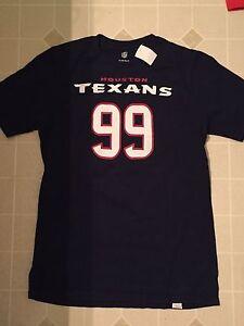 NFL Apparel Houston Texans T-Shirt Youth XL J.J. Watt 99 Navy Blue Graphic
