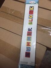 Sizzix Sizzlits Decorative Strip Summer Block Alphabet 656041 (NEW)