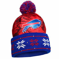 Forever Collectibles NFL Men's Buffalo Bills Big Logo Light Up Beanie Knit Cap