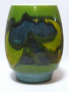 """Vintage 1970s POOLE """"Delphis"""" Art Pottery Vase, England 6-1/8""""H"""
