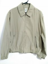 Men's Size Medium TravelSmith Beige/Khaki Full Zip Mesh Lined Jacket
