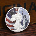 1pc Beautiful US Liberty WASHINGTON D.C Commemorative Silver Coin Gift Craft