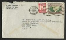 RHODESIA, KGV1 1946 COVER TO USA, FROM NYADIRA MISSION,  MISSIONARY MAIL.