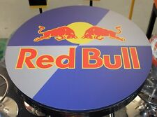 RED BULL BAR TABLE 77cm DIAMETER 105cm HEIGHT
