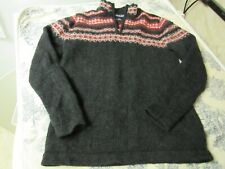 Youth Land's End Nordic Patterned Wool Sweater