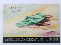Castrol Achievements 1951 Racing + Rallying successes TT Trials Targa Florio +