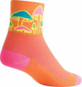 SockGuy Classic Trippin Socks   3 inch   Orange   L/XL