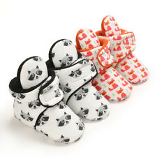 Cute Fox Warm Boots Newborn Infant Winter Snow Booties Baby Boy Girl Crib Shoes