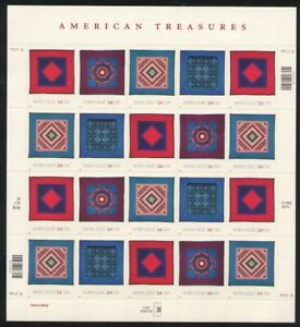 3524-3527 AMISH QUILTS 34c MINT SUPERB-NH SHEET