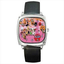 SNOOPY HALLOWEEN PARTY SILVER-TONE SQUARE WATCH