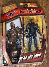"""New 2014 Mattel DC Multiverse DEATHSTROKE 3.75"""" FIGURE Batman Arkham Origins MOC"""