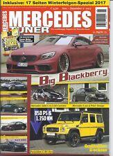 Autozeitschrift Mercedes Tuner 6/2017 AMG S 63 Coupe, S350, C63 SDD, Poseidon G