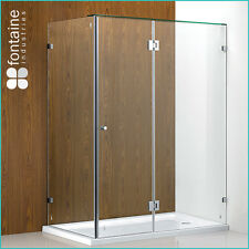 Frameless Shower Screen Base 1500 Panels Tough 10mm Safety Glass AU Standard