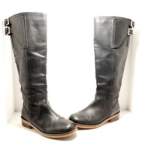 Lucky Brand Leather Tall Buckle Knee High Riding Equestrian Style Boots Size 8.5