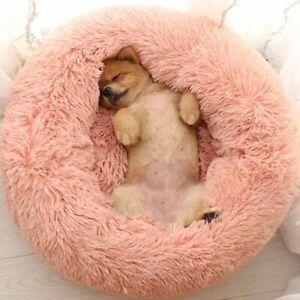 Sleep Soft Plush Dog Bed Round Shape Sleeping Bag Cat Puppy Sofa Bed Pet House