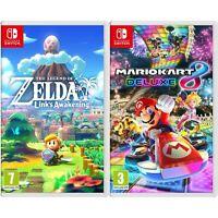 Nintendo Links Awakening & Mario Kart 8 Deluxe Bundle - Import Region Free