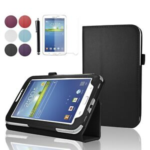 For Samsung Galaxy Tab 3 7inch Leather Flip Stand Case  Cover T210 T211 T215