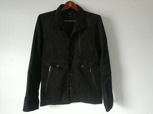 Nau Charcoal Grey Wool Blend Flannel Zip Field Jacket Size Small