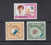 ESPAÑA (1974) SERIE COMPLETA EDIFIL 2174/76 SELLOS NUEVOS SIN FIJASELLOS MNH