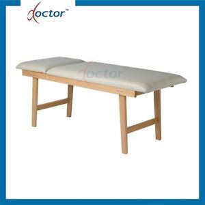 Lettino da visita medica cardiologico in legno con portarotolo - letto medico