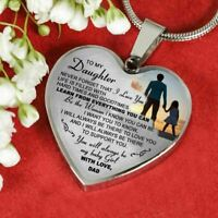 To My Daughter Necklace Heart - Father And Daughter Pendant Gifts From Daddy's