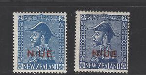NIUE 47 47a  hinged OVERPRINT ON NEW ZEALAND