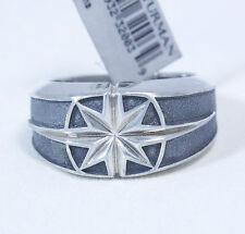 David Yurman Men's Small North Star Signet Ring Sterling Silver Size 11 $395 NWT